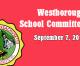 Westborough School Committee meeting – September 7, 2016