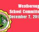 Westborough School Committee meeting – December 7, 2016