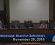 Westborough Board of Selectmen meeting – November 29, 2016
