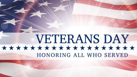 Veterans Day Schedule!