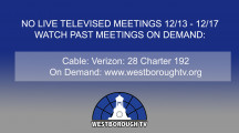 Government Meetings This Week in Westborough: December 23-27, 2019