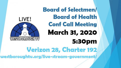 Update on COVID-19 in our Community – BOS Mtg 3/31/2020