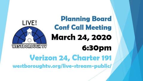 Planning Board Meeting 3/24/2020