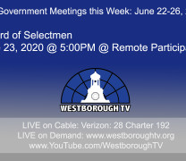 Government Meetings This Week in Westborough: June 22, 2020