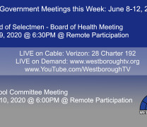 Government Meetings This Week in Westborough: June 8, 2020