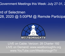 Government Meetings This Week in Westborough: July 27, 2020