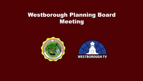 Planning Board Meeting 7/6/21 @ 6:30pm