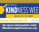 Kickoff to Kindness Week and Schedule!