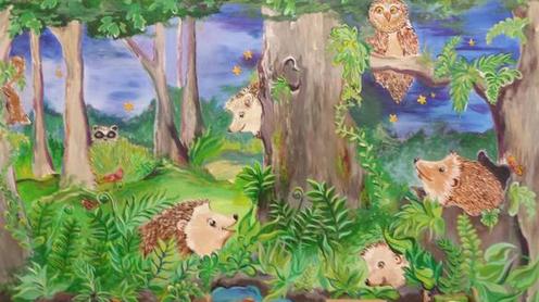 Hedgehog Mural Unveiling at Fales School – Sept. 2014