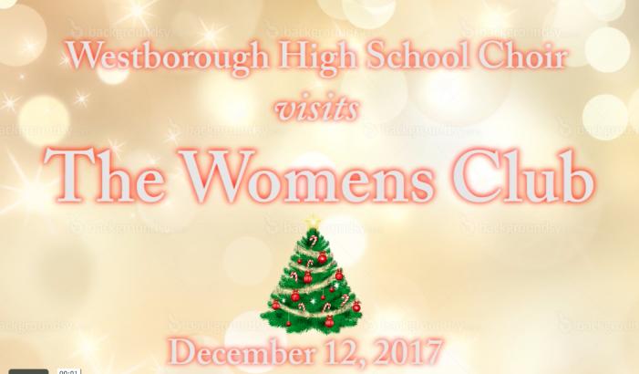 WHS Choir at the Women's Club
