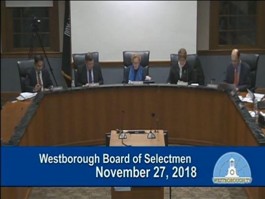 Westborough Board of Selectmen – November 27, 2018