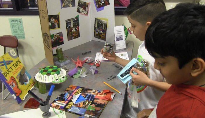 Grade 5 Family STEM Night at Mill Pond 4-10-19