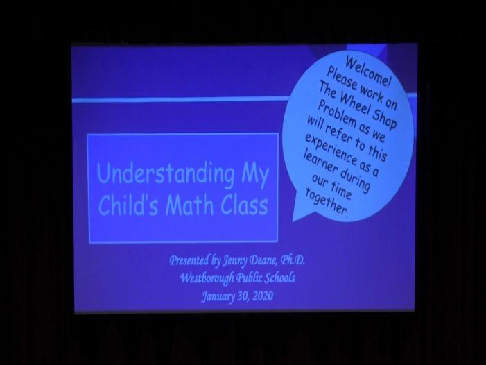 """Understanding My Child's Math Class""- Westborough Schools"