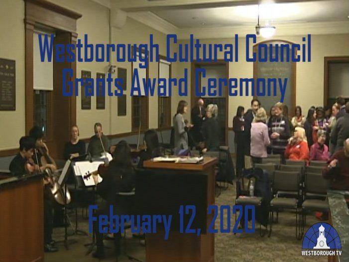 Westborough Cultural Council 2020 Grant Award Ceremony