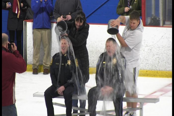 WHS Hockey Ice Bucket Challenge and Algonquin Game