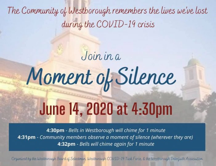 Westborough COVID-19 Moment of Silence 6/14!
