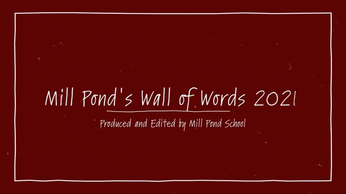 Mill Pond School's Wall of Words 2021: MLK Jr. Day