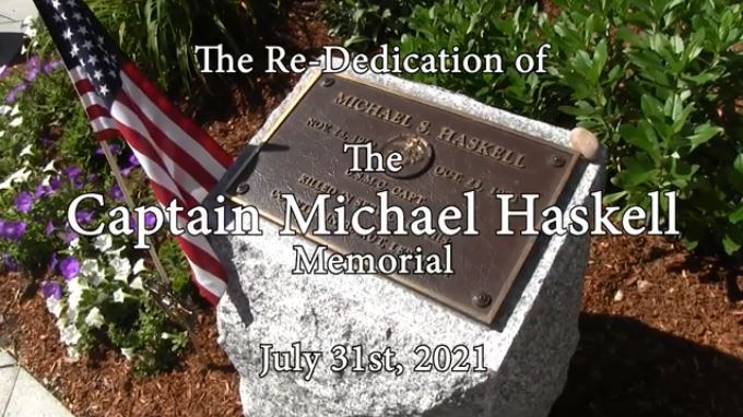 Rededication of Michael Haskell Memorial